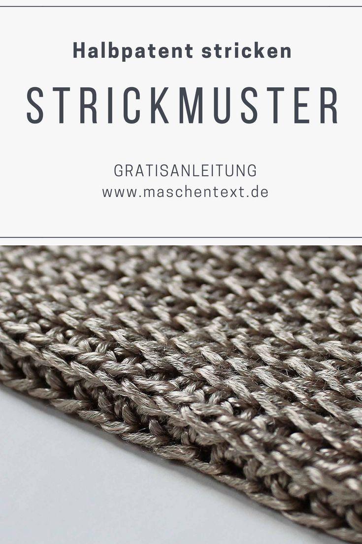 Photo of Strickanleitung: Halbpatentmuster