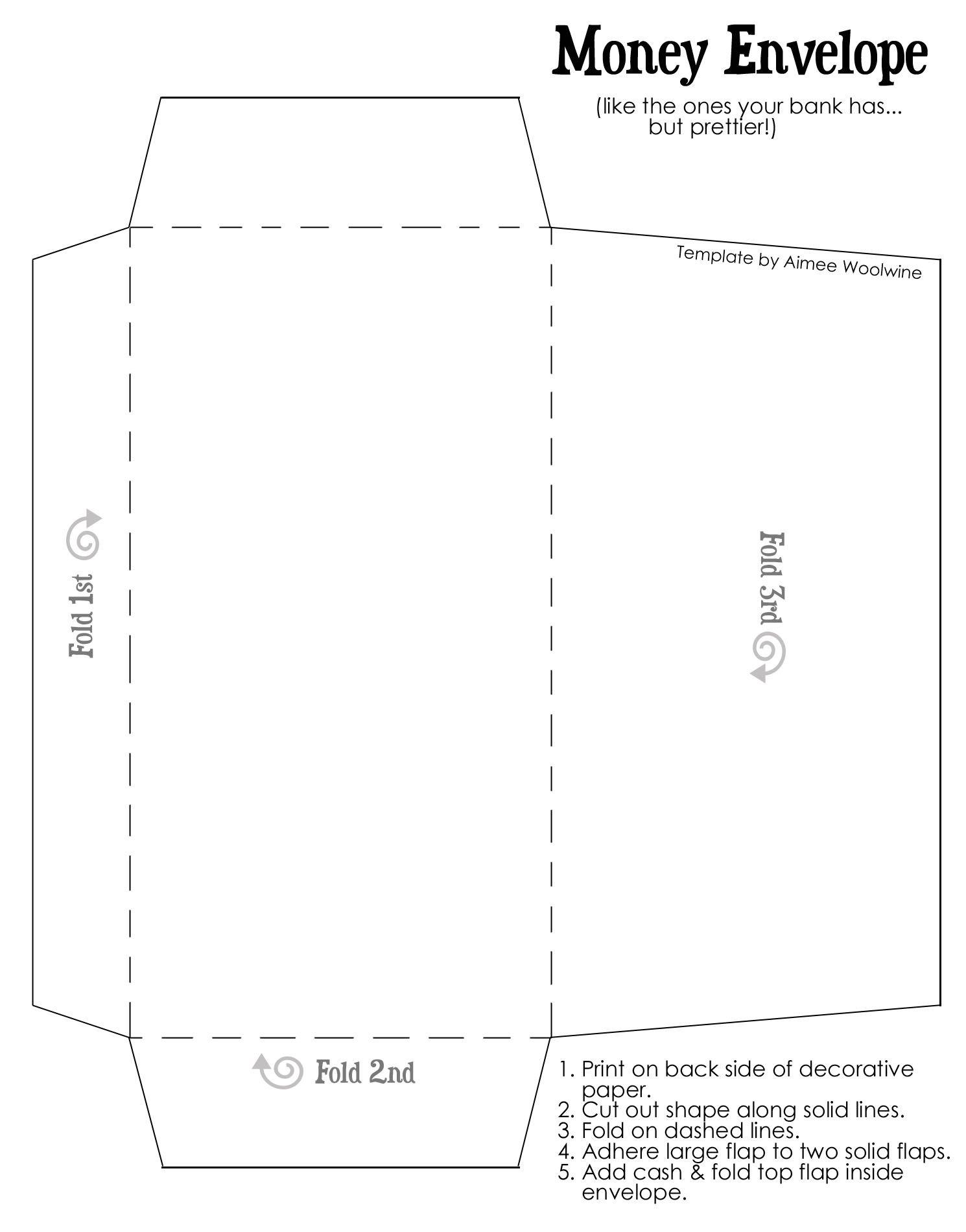 Scrapbook paper envelope template - Coinenvelopetemplatewtext For My Envelope Money Plan Money Envelopesenvelope Templatesdiy