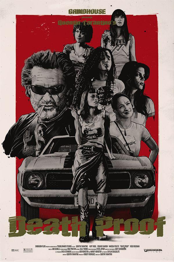 Death Proof Poster  Kurt Russell Quentin Tarantino Movie Print