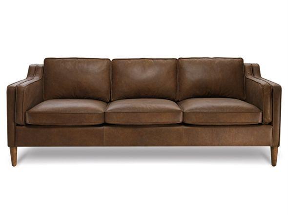 Oxford tan leather sofa for Canape oxford honey leather sofa