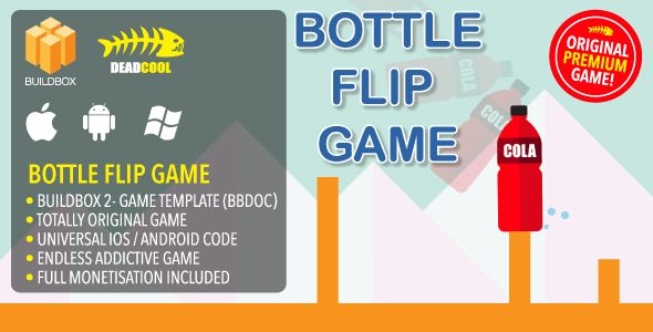 Bottle Flip BuildBox Game Template Document IOS Android - Mobile game design document template