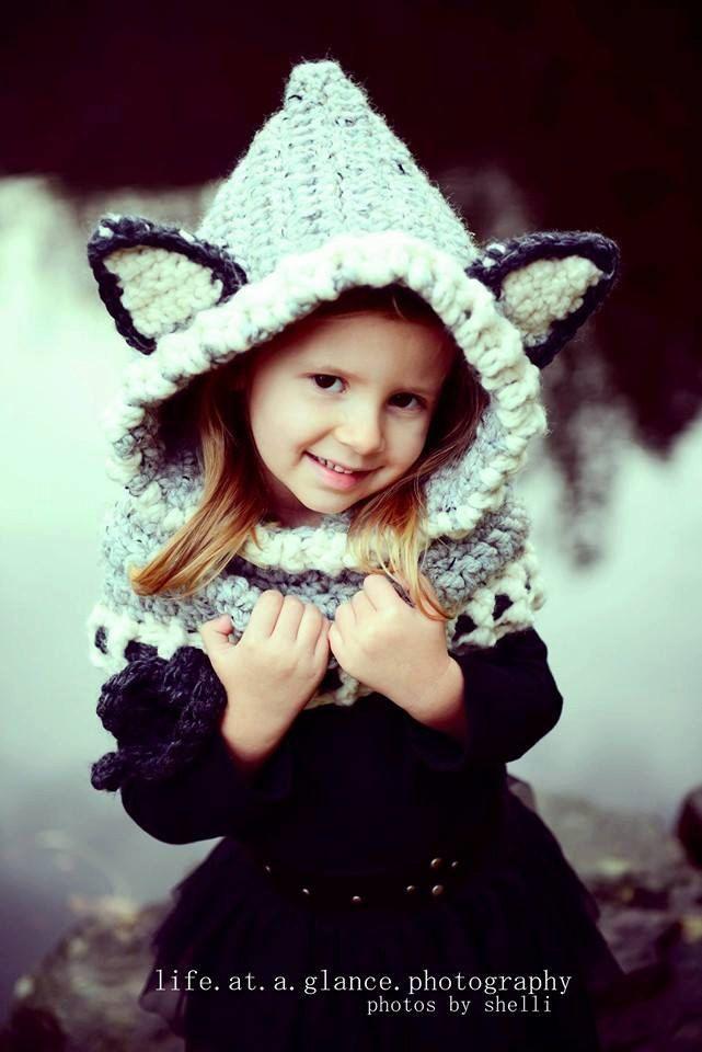 The Woodlynn Wolf Cowl, Hooded Crochet Cowl, Wolf Hat, Wolf Hood ...