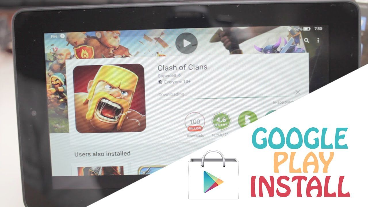 Amazon Fire Tablet Google Play Store without root (Fast