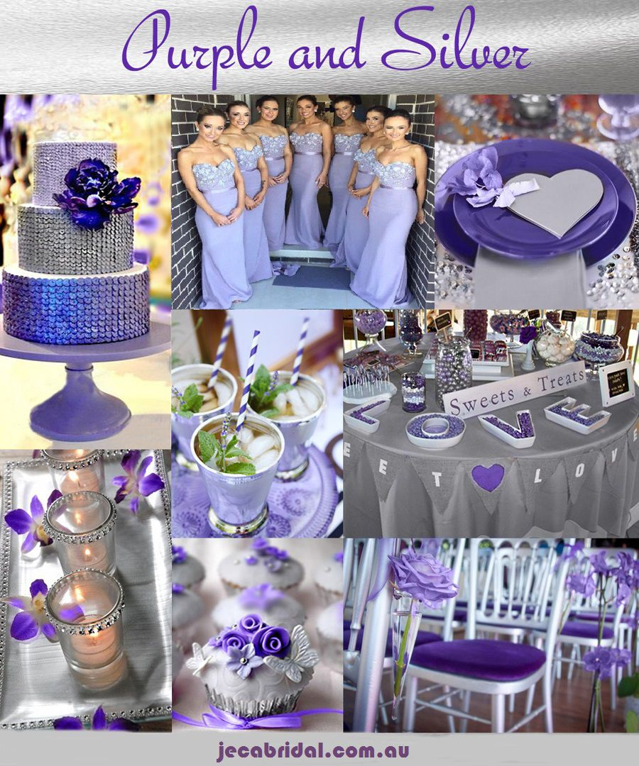 Purple And Silver Wedding Ideas Purple And Silver Wedding