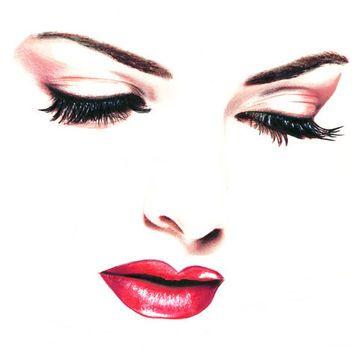 50s Rockabilly Tumblr Lip Drawing Lipstick Art Lips Drawing