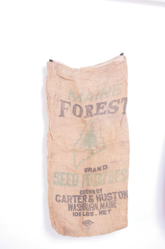 Another cool canvas burlap sack to use for upholstery or arts and crafts. It's a one of a kind piece for sale on Etsy.