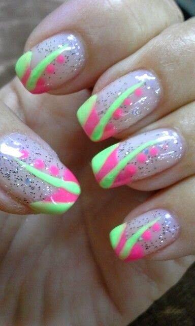 Gel Nail Designs For Summer 2014 Nails Pinterest Nail