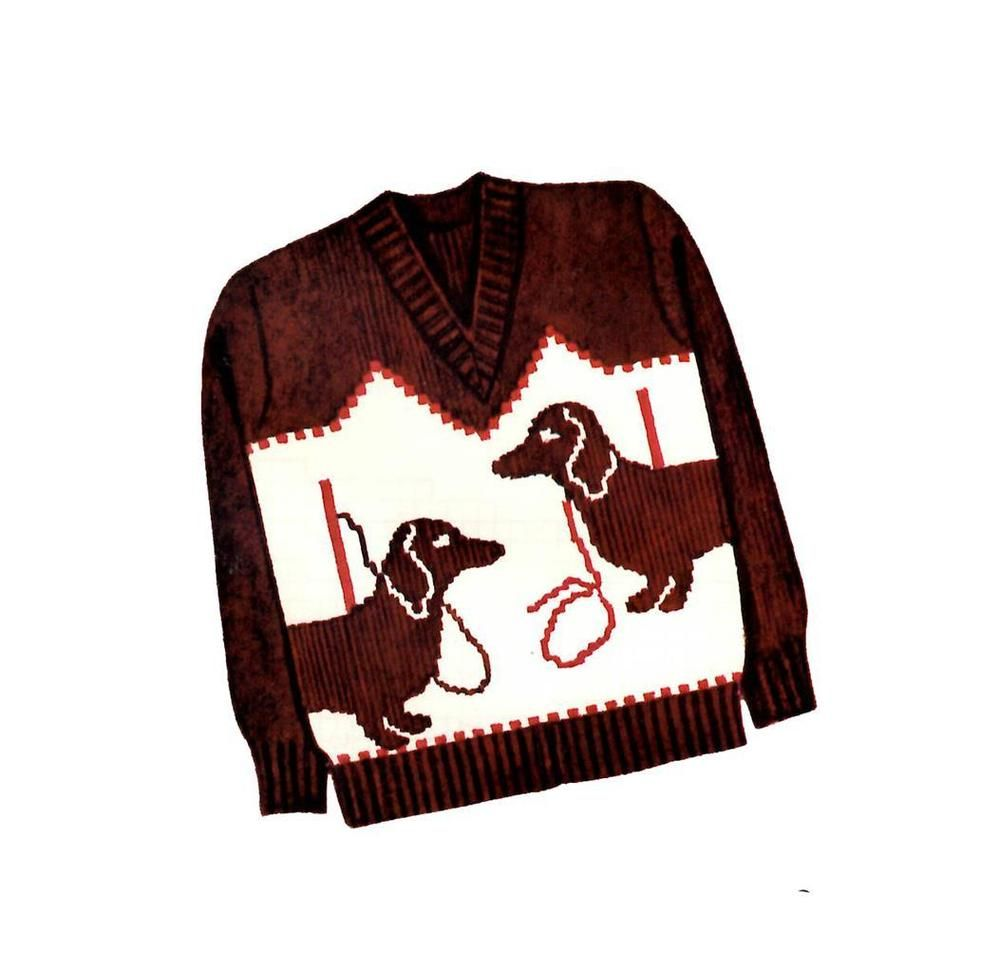 Dachshund sweater pattern knit o graf 227 childrens 8 10 12 14 dachshund sweater pattern knit o graf 227 childrens 8 10 12 14 knitting pattern knitograf227 bankloansurffo Gallery