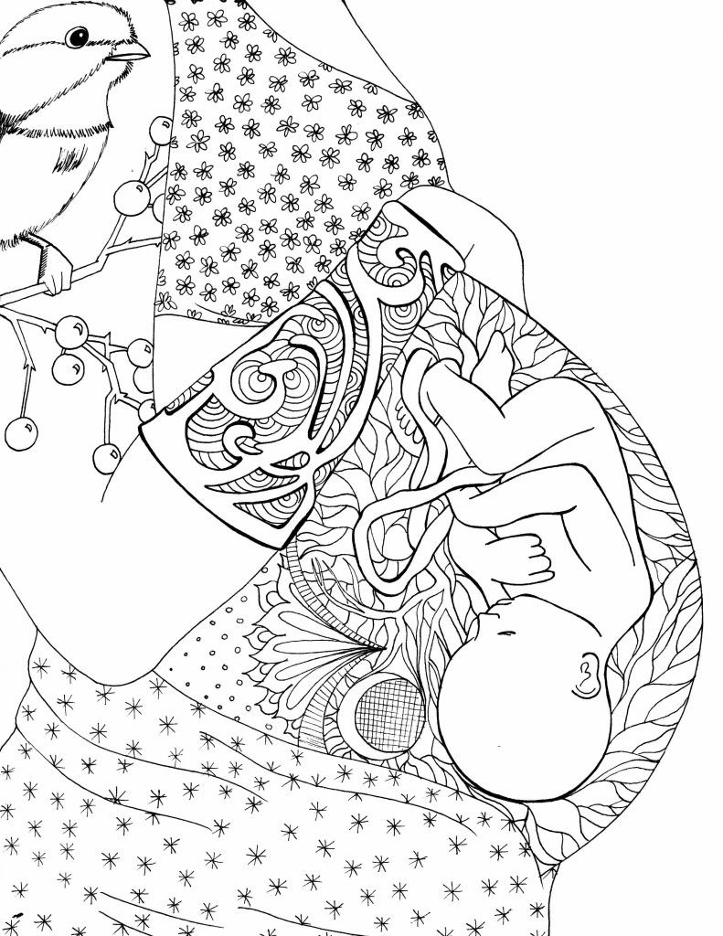 Free Pregnancy Coloring Pages | Pinterest | Pregnancy, Free and Birth