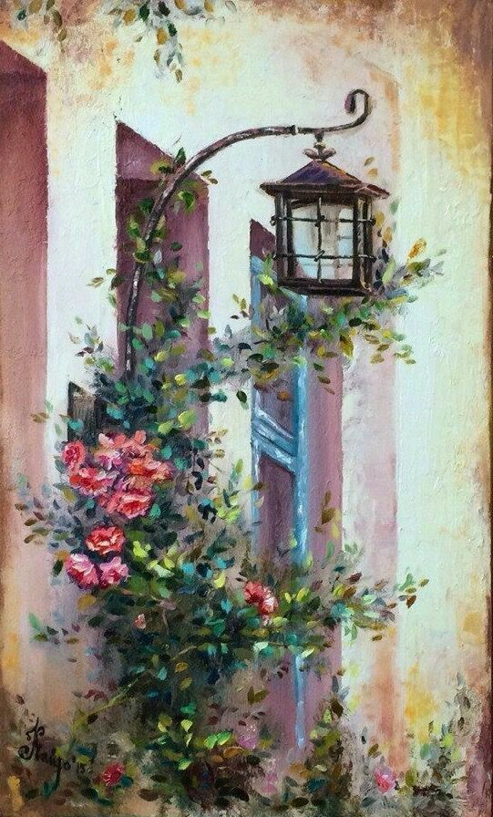 Schon Deko · Mediterrane Gemälde · Mediterrane Kunst · Ölgemälde ·  24059162_1706557816084931_4065409333867720569_n (541×896)