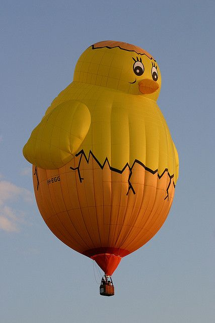 Hot-air Balloon Chick Special Shape by spixpix,