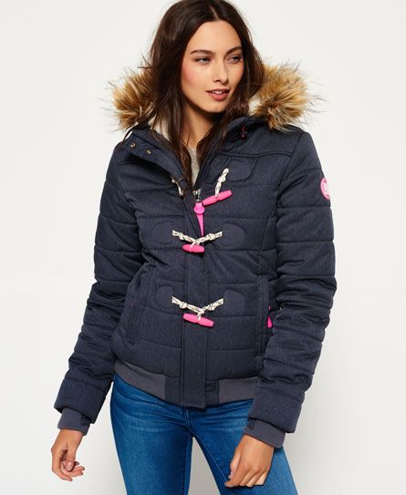 Marl Toggle Puffle Jacket Jacken Jacken Frauen Damen Bekleidung
