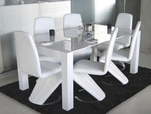 6 X Designer Stuhle Esszimmerstuhle Freischwinger Napalon Leder Z Stuhl Design Esszimmerstuhle Freischwinger