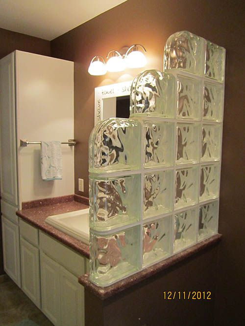 Glass Blocks Used In Bathrooms Glass Block Walls In The Bathroom Master Bathroom Remodel