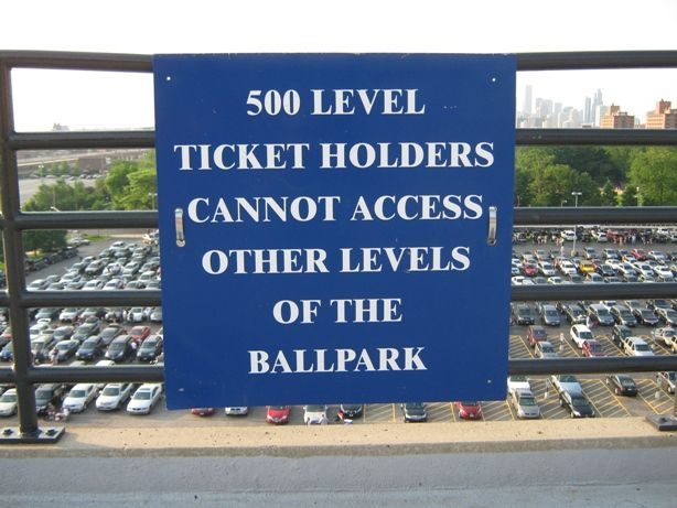 A Very Important Thing To Know About The Upper Level Seating At - Cellular field seating