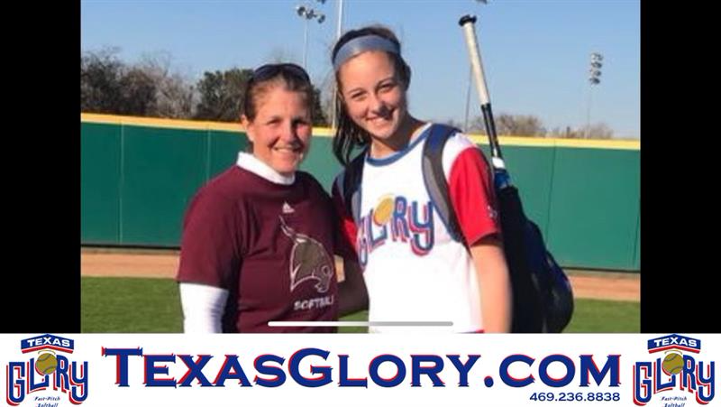 14u Texas Glory Naudin S Ayden Allen Goes To Tx State Camp She Is A 2022 From Prosper Tx Texas Baseball Cards Baseball