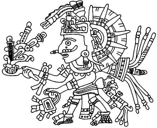 Aztec Aztec Xochipilli Coloring Pages Coloring Pages