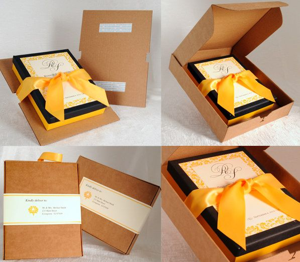 Unique Wedding Invitations In A Box: Print Series #4: Custom Mailing Boxes