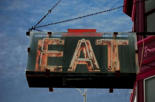 eat,diner,sign,neon,cafe,greasy spoon,iowa,muscatine,sign,billboard,old,rusty,food,hunger,diner,mom and pop,burger,fries,kitchen,knife,fork,hunger,ketchup,mustard,catsup,salt,pepper,pie,coffee,creamer,waitress,short order,fry cook,