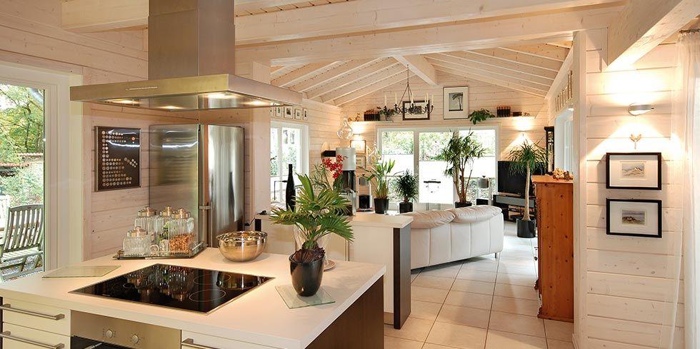 Massives Holzhaus Kirschlorbeer Küche | Küche | Pinterest | Ground floor