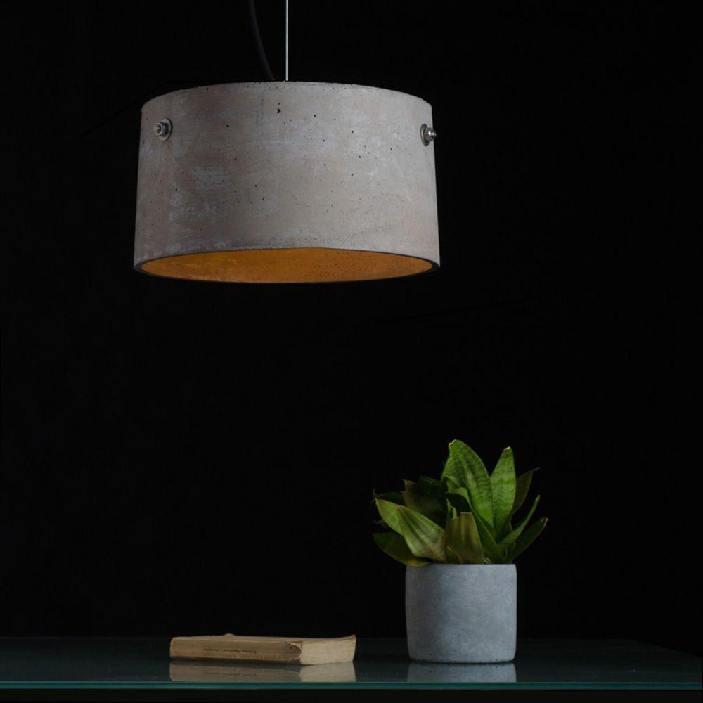 Tamla Trommelformige Hangeleuchte Aus Beton Hangeleuchte Lampe Esszimmertisch Beleuchtungsideen