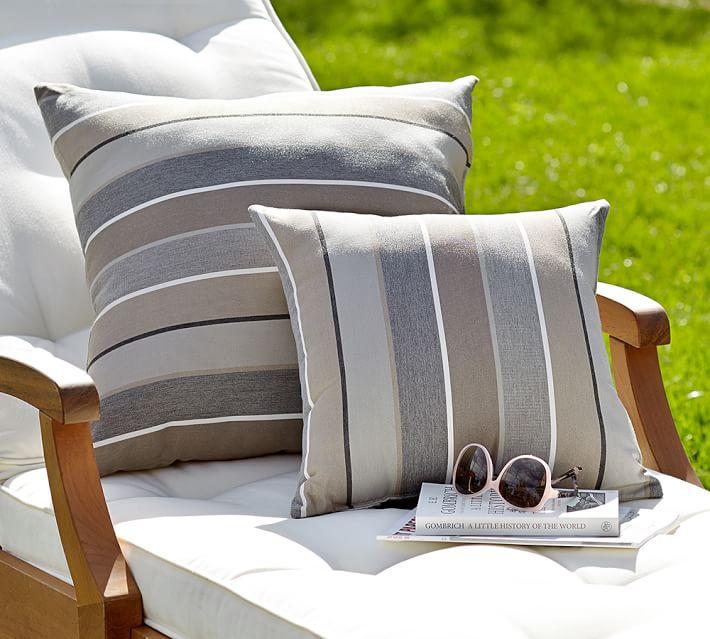 Sunbrella Milano Striped Indoor Outdoor Pillow Striped Outdoor Pillow Outdoor Pillows Indoor Outdoor Pillows