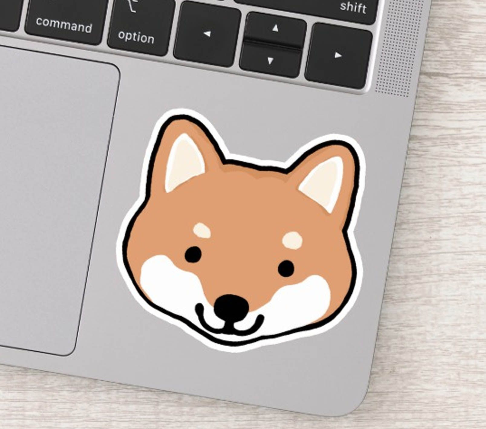 Cute Shiba Inu Dog Cartoon Happy Face Sticker Zazzle Com Cartoon Dog Shiba Inu Shiba Inu Dog