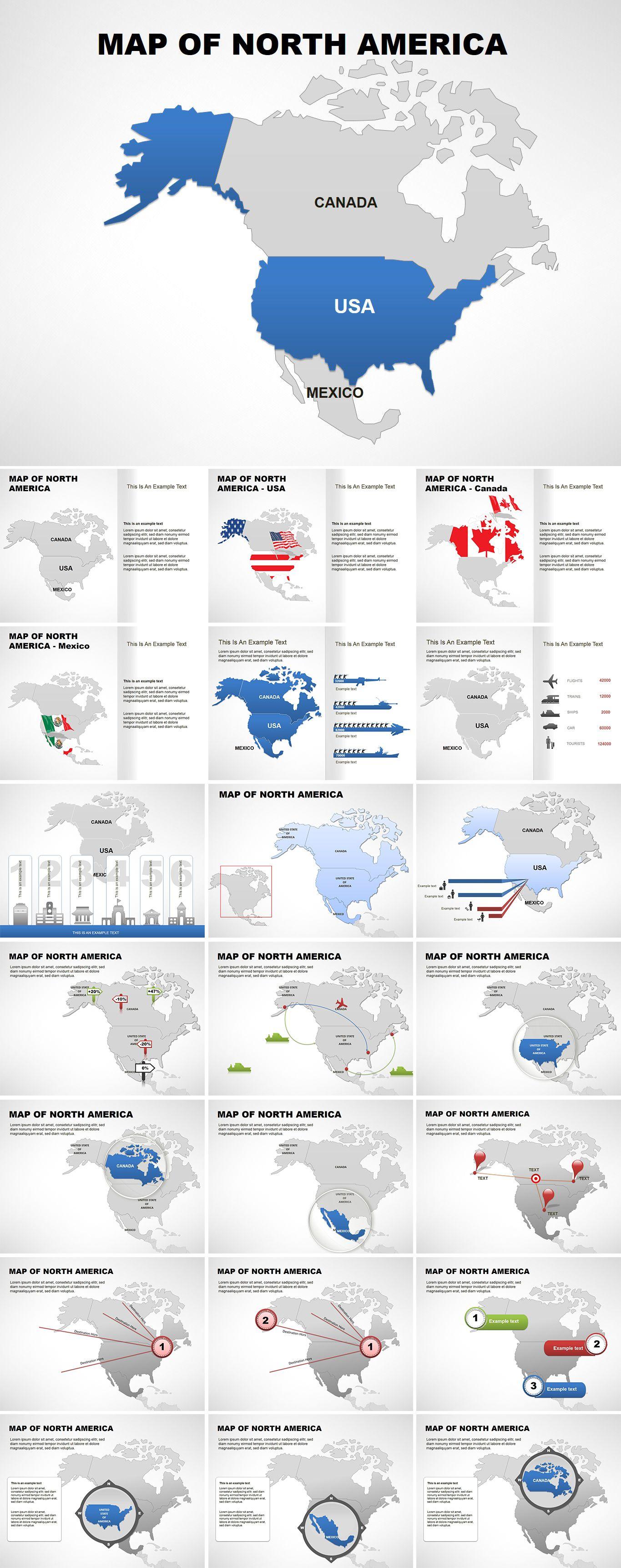 North america editable powerpoint maps pinterest north america editable powerpoint maps templates toneelgroepblik Image collections