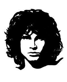 Jim Morrison Jim Morrison Silhouette Art Pink Floyd Art