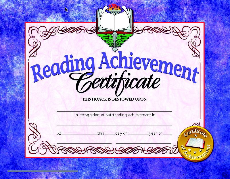 Hayes Reading Achievement Certificate 8 12 X 11 In Paper Pack Of