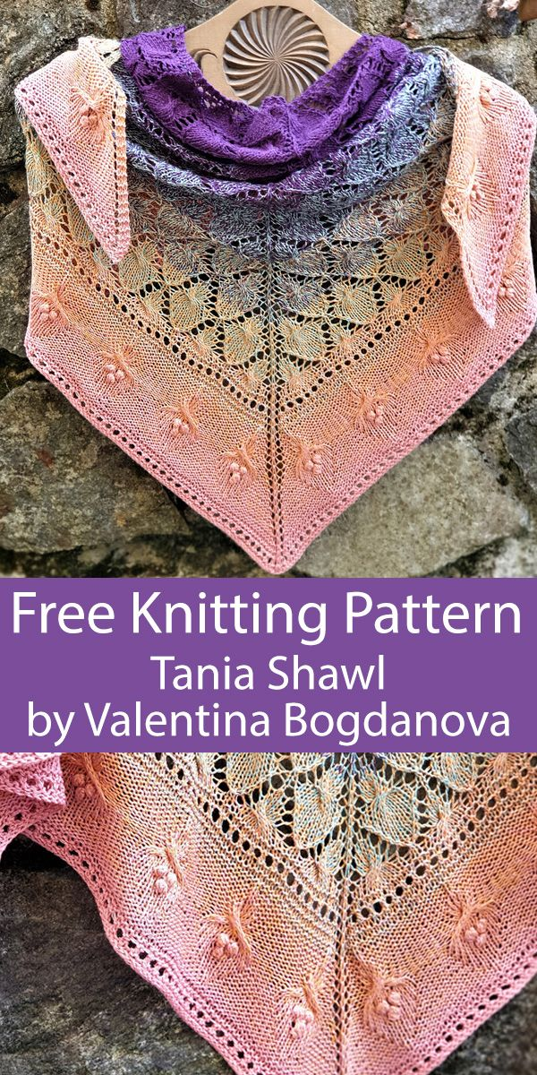 Photo of Free Knitting Pattern for Taina Shawl