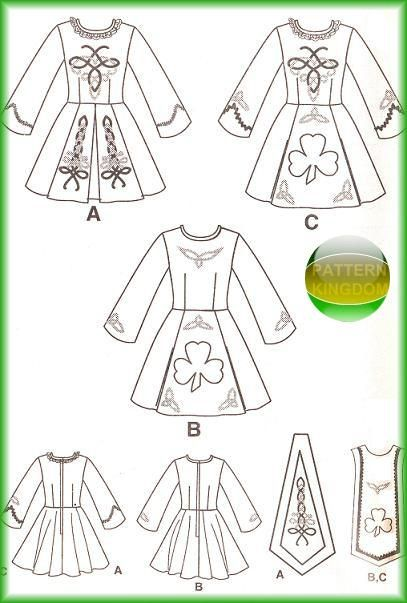 Simplicity 9654 Misses Irish Solo Dance Dress Patterns | Feis dress ...