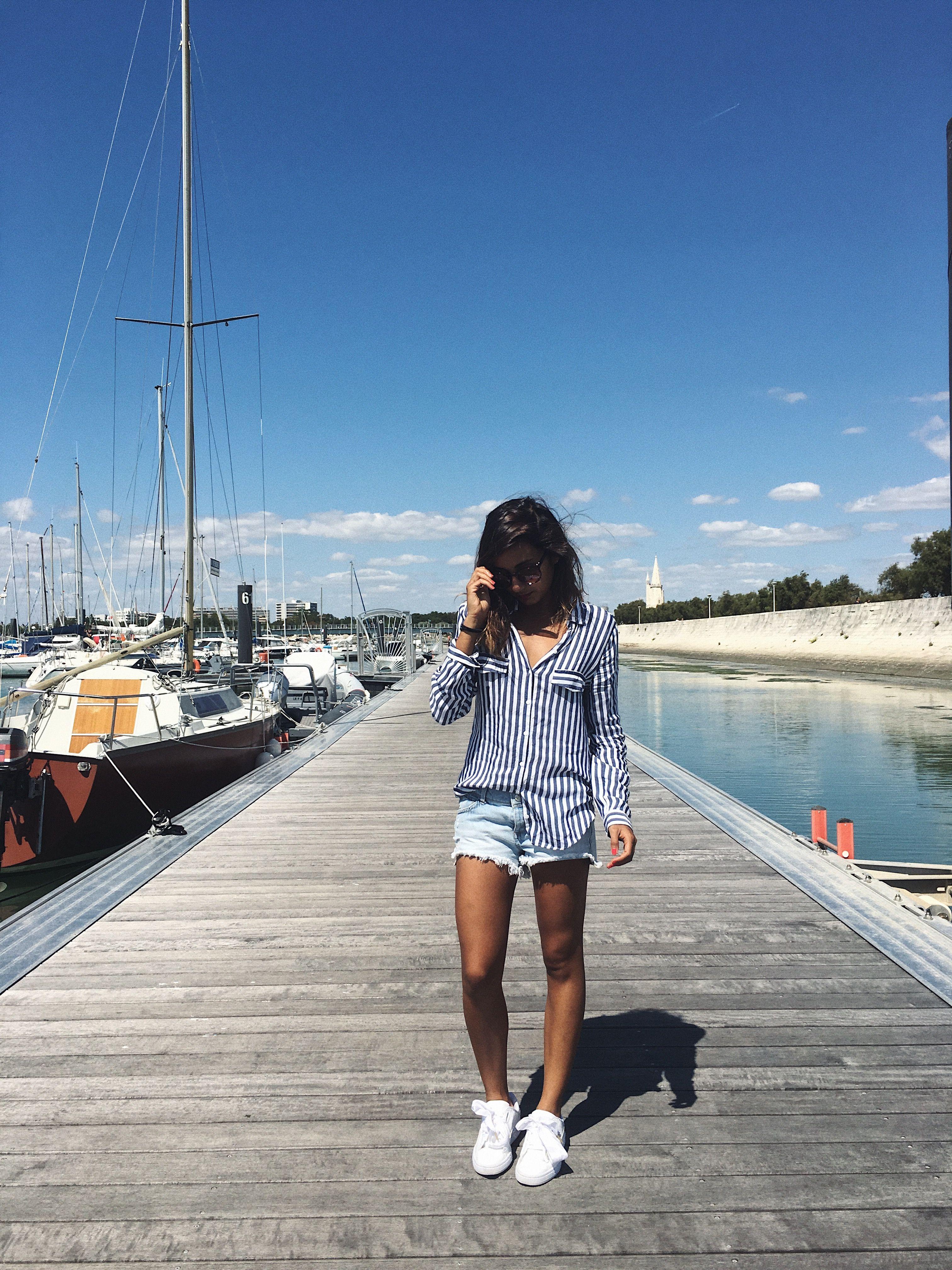 Look d'été  #Summer #shirt #short #Tshirt #summerLook #jeans #Fashion #BlogMode #Street #puma #Pumaheart #Larochelle #Sail