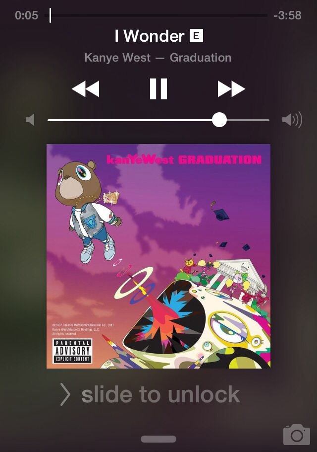 I Wonder If You Know What It Means To Find Your Dreams With Images Kanye West Album Cover Rap Album Covers Graduation Album