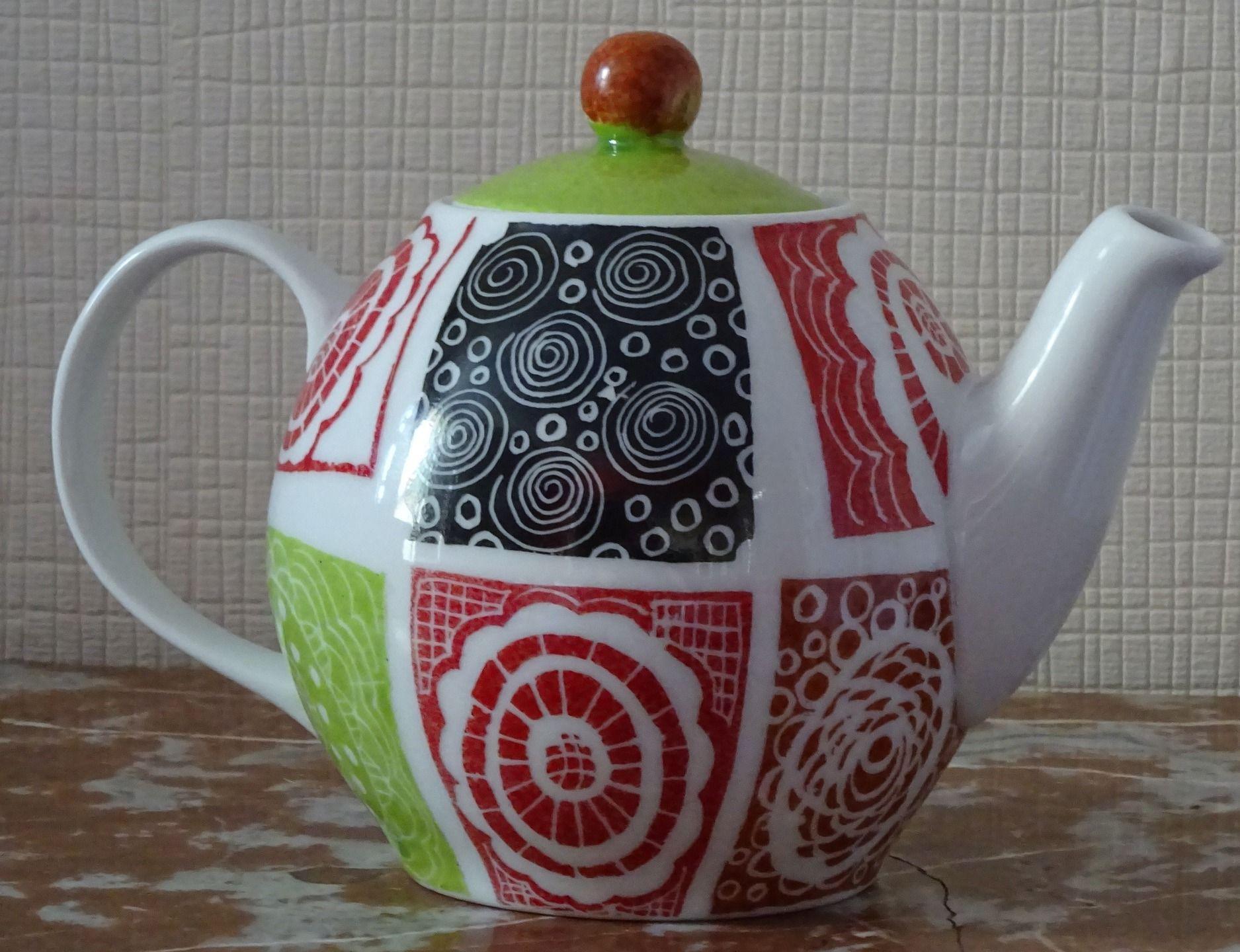 thière porcelaine fantaisie : Vaisselle, verres par pigments-et-kaolin