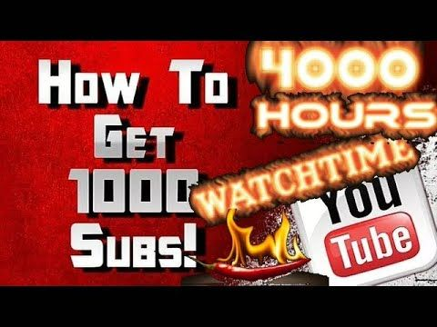 How to get 1000 Subscribers in 1 Month on YouTube