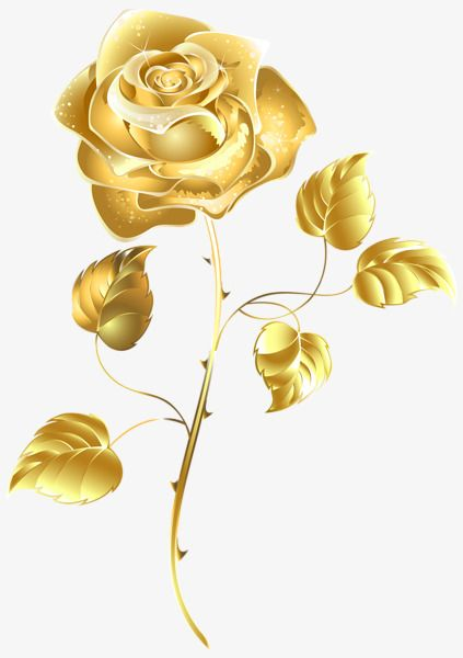Rose Clipart Color Clipart Rose Gold Flowers Golden A Clipart Gold Clipart Flower Art Rose Clipart Gold Flowers