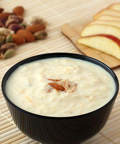 Apple Kheer Recipe Kheer Recipe Kheer Recipe With Condensed Milk Indian Food Recipes