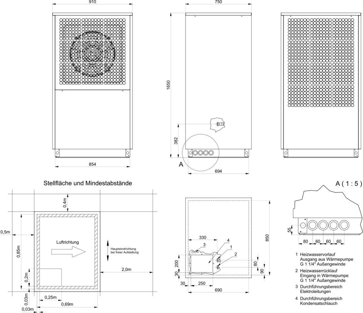 hocheffizienz luft wasser w rmepumpe au enaufstellung heizung pinterest w rmepumpe luft. Black Bedroom Furniture Sets. Home Design Ideas