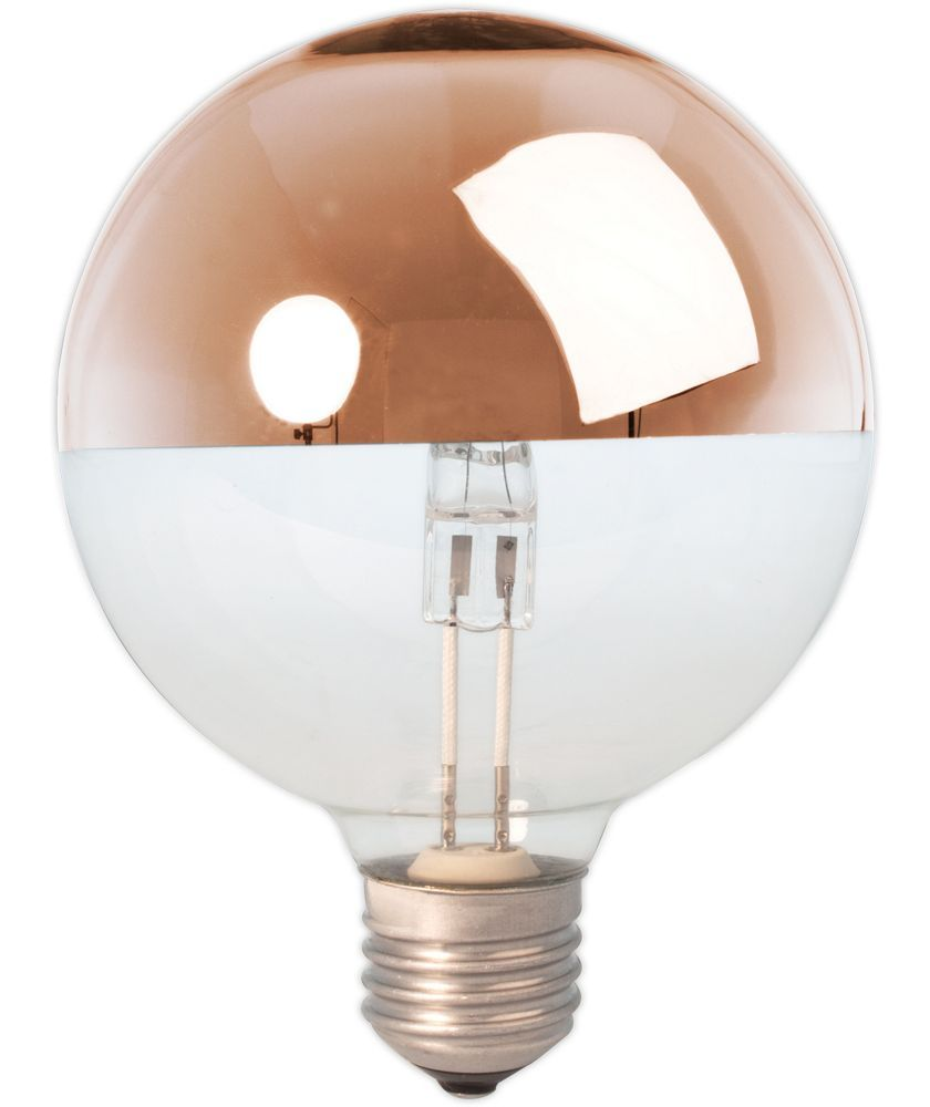 Buy Lightbulbs Buy Calex Halogen Copper Crown Mirror Globe 370 Lumen Dimmable At