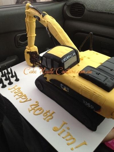 Caterpillar Excavator By Bunbury Bunnii On Cakecentral Com