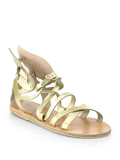 Angel Metallic Leather Wing Gladiator Sandals