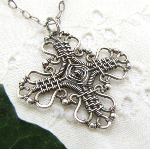 Wire Wrapped Cross | Inspiration | Pinterest | Diy schmuck, Draht ...