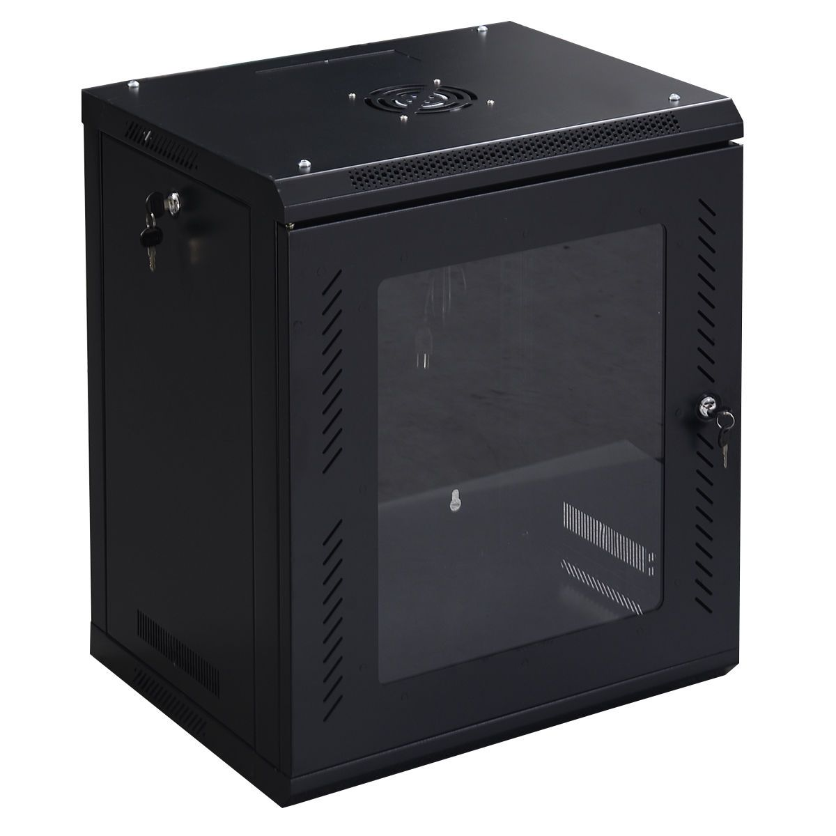 12u Wall Mount Network Server Data Cabinet W Glass Door Data Cabinet Glass Door Glass Door Lock