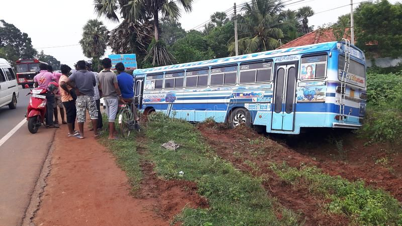 Bus Accident Slipping Off The Road Sponsored Accident Bus
