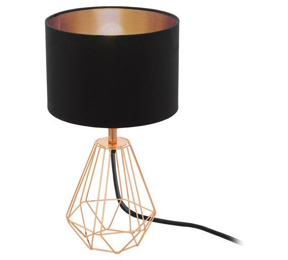Buy eglo carlton vintage table lamp black and copper at argos buy eglo carlton vintage table lamp black and copper at argos aloadofball Image collections