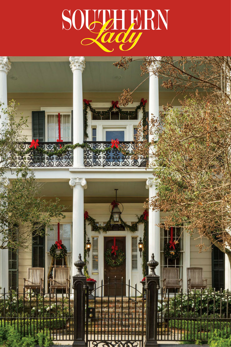 The epitome of Southern charm, this grand abode dressed in ...