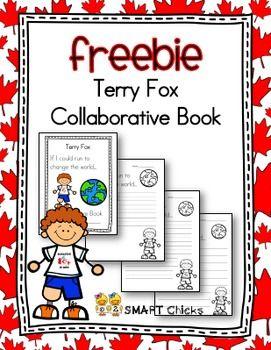 Terry Fox Collaborative Book Freebie Kindergarten Language Activities Event Planning School Preschool Learning Activities