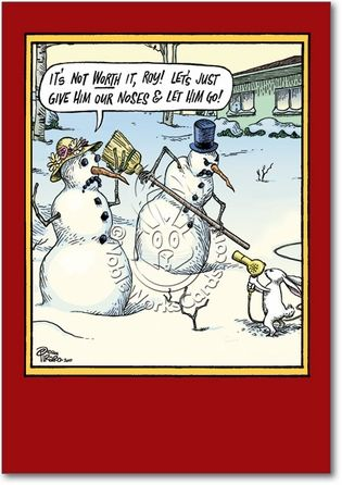 Not Worth It Adult Humor Merry Christmas Greeting Card Nobleworks ...