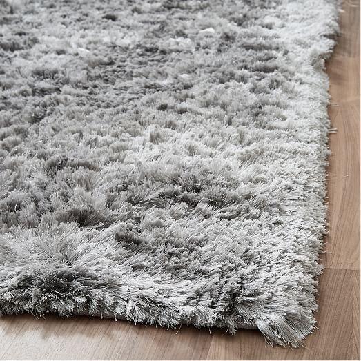 Glam Shag Rug Platinum In 2020 Shag Rug Rugs On Carpet Plush Carpet